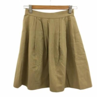 【中古】ボールジー BALLSEY トゥモローランド スカート フレア 膝丈 タック 34 茶 ブラウン レディース