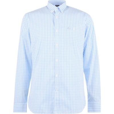 ライジング ブル Raging Bull メンズ シャツ トップス Raging Long Sleeve Gingham Shirt Sky Blue