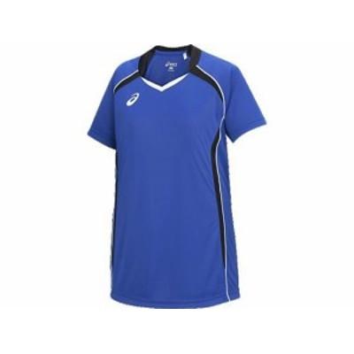 アシックス ゲームシャツHS 4590 ブルー×ブラック(xw1316-4590)