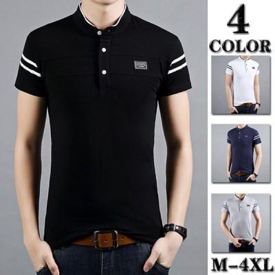 ポロシャツ メンズ ボタンダウン ビジネス ポロシャツ メンズ 半袖 ゴルフウェア 大きい ポロTシャツ メンズ お兄系 4色