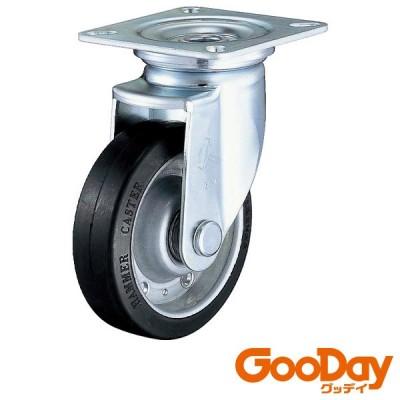 ハンマー 旋回式ゴム車輪(スチールホイール・ラジアルボールベアリング)125mm 1個 420JRBB125BAR01 ※配送毎送料要