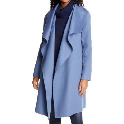 ノードストローム NORDSTROM SIGNATURE レディース コート アウター Cascade Collar Double Face Wool & Cashmere Coat Blue Vintage