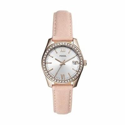 腕時計 フォッシル レディース Fossil Women's Stainless Steel Quartz Leather Strap, Pink, 16 Casual