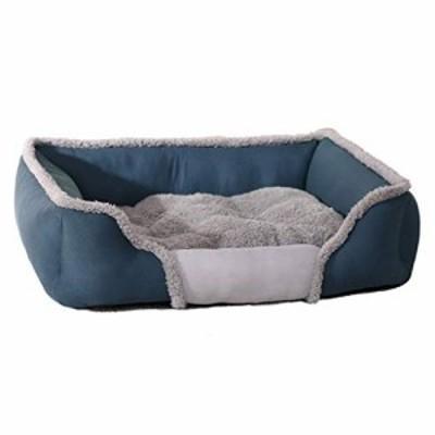 犬のベッドソフト洗える暖かいフリースペットの猫バスケットクッション子猫(中古品)