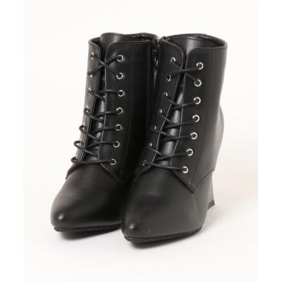 Mafmof / Mafmof(マフモフ) 変形メタリックヒールレースアップ ブーツ WOMEN シューズ > ブーツ