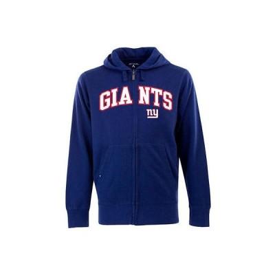 アンティグア アメリカ USA カレッジ 全米 リーグ フットボール NFL Antigua New York Giants シグネイチャ フルジップ パーカー ロイヤル ブルー