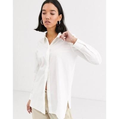 ホイッスルズ レディース シャツ トップス Whistles cotton longline shirt in white