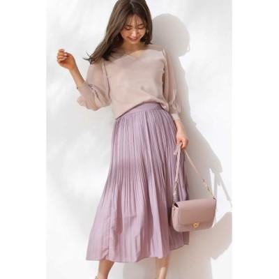 PROPORTION BODY DRESSING/プロポーションボディドレッシング  ◆シアーボイルプリーツスカート ラベンダー M