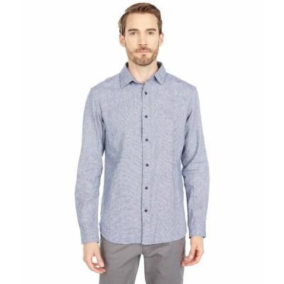 セレクテッドオム シャツ トップス メンズ Gunnar Long Sleeve Shirt Navy Blue Structure