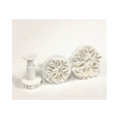 抜き型 ブランジャーカッタースノーフレーク雪 結晶 フローズン プラスチック製プッシュ式クッキーカッターセット ET299001470ブラン