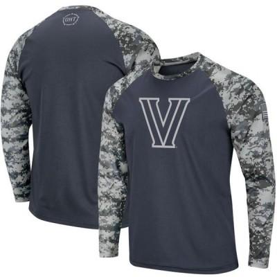 ユニセックス スポーツリーグ アメリカ大学スポーツ Villanova Wildcats Colosseum OHT Military Appreciation Digi Camo Raglan Long