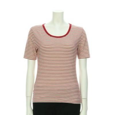 オールドイングランド カットソー サイズM レディース 美品 レッド系 Tシャツ・カットソー コットン98% ポリウレタン2%【中古】20201120