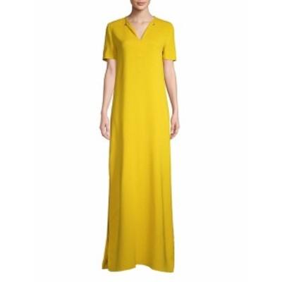ランバン レディース ワンピース Short-Sleeve Floor-Length Gown