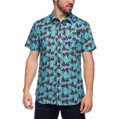 ブラックダイヤモンド メンズ シャツ トップス Solution Short-Sleeve Shirt Gear Print