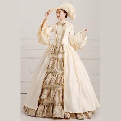 貴族 服 小さいサイズ 大きいサイズ 豪華な女王 パーティードレス ウェディングドレス パニエ追加可 da562f0f0q2