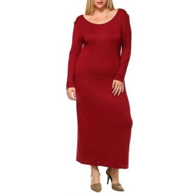 ホワイトマーク レディース ワンピース トップス Plus Size 'Ria' Maxi Dress