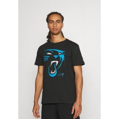 ファナティクス Tシャツ メンズ トップス NFL CAROLINA PANTHERS REVEAL GRAPHIC - Club wear - black