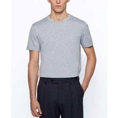 ヒューゴボス Tシャツ トップス メンズ BOSS Men's T-Tesar Regular-Fit T-Shirt Silver