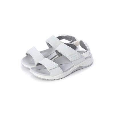 エコー ECCO Womens X-TRINSIC Flat Sandal (WHITE)