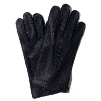 メローラ ペッカリー グローブ ZU73(ネイビー) 裏地なし【イタリア製】MEROLA 手袋 メンズ【手ぶくろ 男性用】革 防寒ブランド ギフト