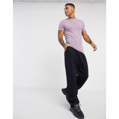 エイソス ASOS DESIGN メンズ Tシャツ トップス organic muscle fit t-shirt in grey ニルヴァーナ