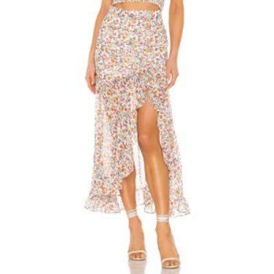フリンスカイ FLYNN SKYE レディース ひざ丈スカート スカート Erie Skirt Spring Garden