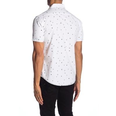 バーンサイド メンズ シャツ トップス Printed Novelty Short Sleeve Shirt WHITE