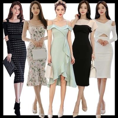 ドレス 新作入荷高品質ワンピースコレクション /OL正式な場合礼装ドレスセクシーなワンピース一字肩側開深いVネックやせて見えるハイウエ / ドレス / 結婚式 ドレス /パーティードレス/ セクシー