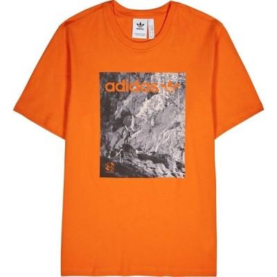 アディダス ADIDAS ORIGINALS メンズ Tシャツ トップス ADV orange printed cotton T-shirt Orange
