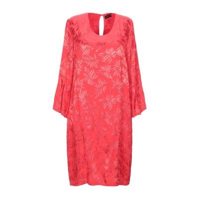 POUR MOI ミニワンピース&ドレス レッド M レーヨン 100% ミニワンピース&ドレス