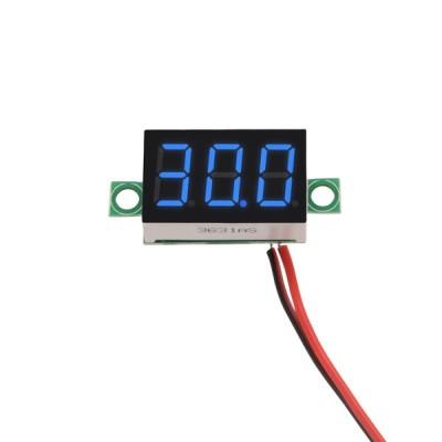 uxcell 電圧計 ブルー DC 2.5-30V電圧計の範囲 2ワイヤ電圧テスター 1個入り