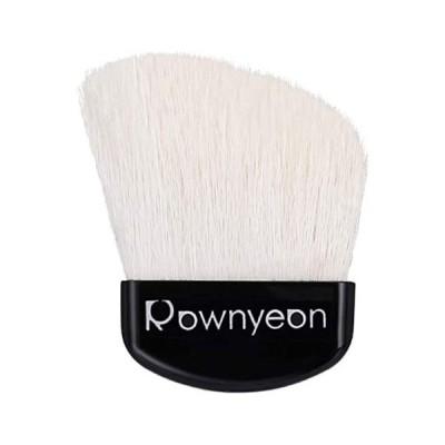 ROWNYEON メイクブラシ 扇型 化粧ブラシ 斜め パウダーブラシ フェイスブラシ ハイライトブラシ 携帯用 ケース付き