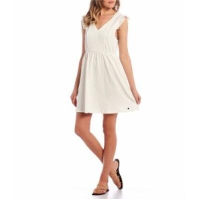 ロキシー レディース ワンピース トップス Morning Breeze Smocked Flutter Sleeve Dress Snow White