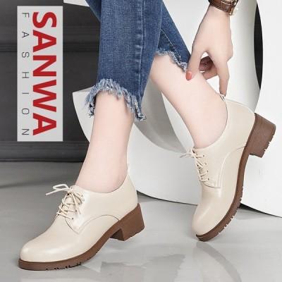 パンプス レディース革靴 女性 フラット 春夏秋冬 オールシーズン 本革 疲れない 履きやすい イギリス風  革靴 シューズ 歩きやすい  婦人靴
