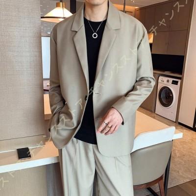 ジャケット メンズ カジュアル スーツ 1つボタン ゆったり ショートコート 薄型 細身 長袖 テーラードジャケット ビジネス 上着 紳士 大きいサイズ おしゃれ