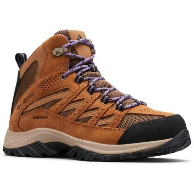 コロンビア ブーツ&レインブーツ シューズ レディース Columbia Sportswear Women's Crestwood Mid Waterproof Hiking Boots Loam