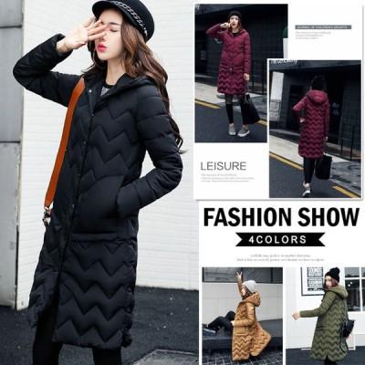 送料無料大きいサイズあったか 暖かい 防寒着!綿コート 中綿コートジャケット レディース ロング ショート 軽量 アウター Aライン