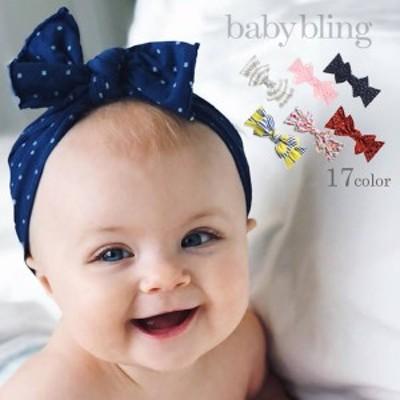 baby bling (ベビーブリング) ベビー リボン カチューシャ Printed Knots かわいい プリント柄 プレゼント ギフト
