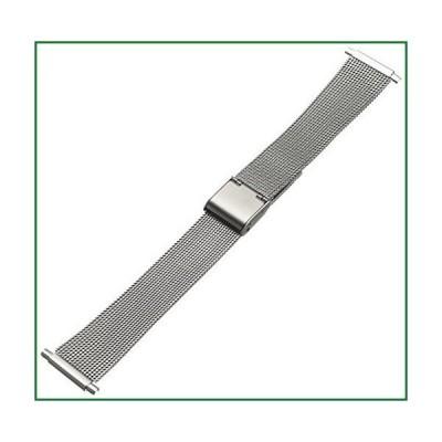 Hadley-Roma メンズ 腕時計バンド メッシュ ステンレススチール ブレスレット MB3806RWSQ-22 22-mm
