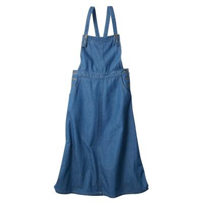 【大きいサイズ】 ライトデニムジャンパースカート ワンピース, plus size dress