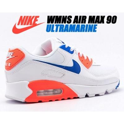NIKE WMNS AIR MAX 90 white/racer blue-flash crimson ct1039-100 ナイキ ウィメンズ エアマックス 90 レディース スニーカー ホワイト ウルトラマリン