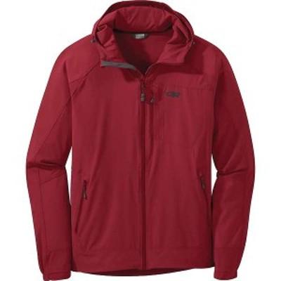 アウトドアリサーチ メンズ ジャケット・ブルゾン アウター Outdoor Research Men's Ferrosi Hooded Jacket Retro Red