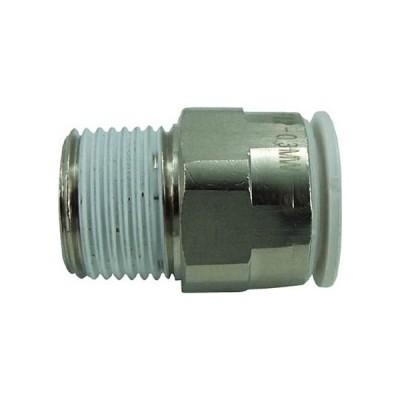千代田通商 タッチコネクターファイブ メイルコネクター W(白)12mm・R3/8 F12−03MW 1個 (メーカー直送)