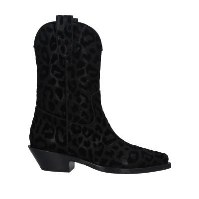 ドルチェ & ガッバーナ DOLCE & GABBANA ショートブーツ ブラック 38.5 紡績繊維 ショートブーツ
