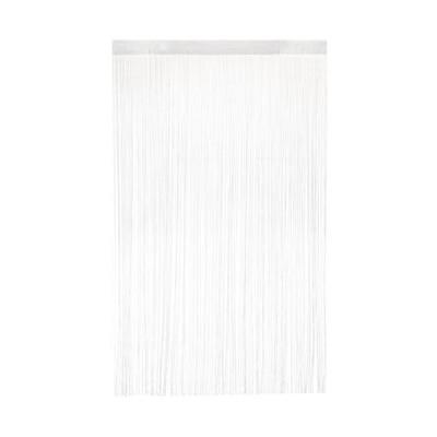 花々(hanahana) ひものれん 花粉&ほこりキャッチ機能付き 100×170cm ホワイト 7634