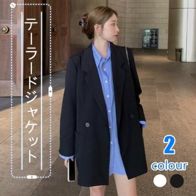 スーツジャケット 女性 カジュアル スーツ 卒業式 ゆったり 色褪せない 上質の生地 ジャケット 薄手の上着 デイリーコーデ 体型カバー