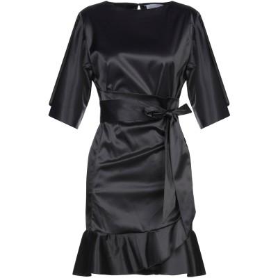 フェデリカ・トシ FEDERICA TOSI ミニワンピース&ドレス ブラック 38 ナイロン 95% / 合成繊維 5% ミニワンピース&ドレス
