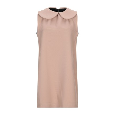 MM STUDIO ミニワンピース&ドレス キャメル 40 ポリエステル 100% ミニワンピース&ドレス