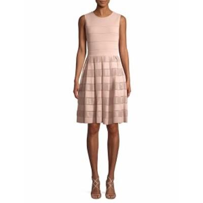 キャロライナヘレラ レディース ワンピース Striped Fit-and-Flare Dress