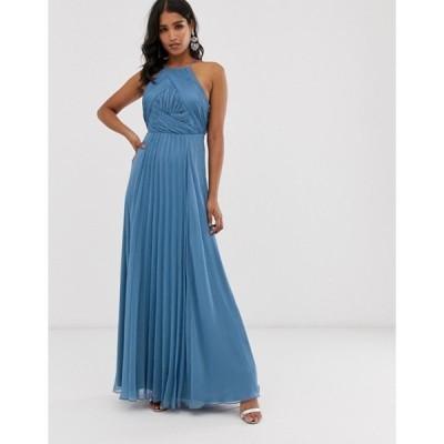 エイソス レディース ワンピース トップス ASOS DESIGN Bridesmaid pinny maxi dress with ruched bodice